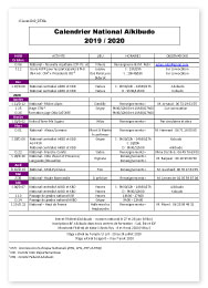Calendrier National FKSR 2019-2020
